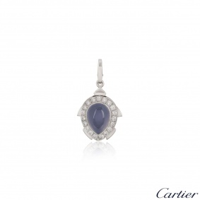 Cartier Limited Edition Chalcedony & Diamond Turtle Charm